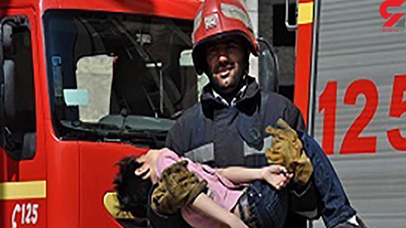 نجات 5 همدانی با تلاش آتش نشانان فداکار