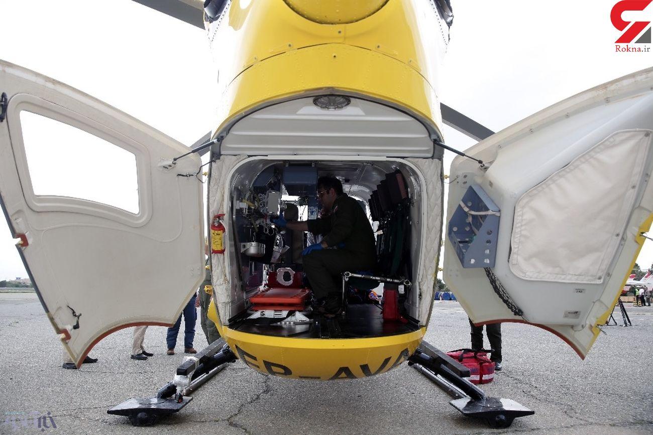 بالگرد اورژانس هوایی به داد بیمار زن آستارایی رسید