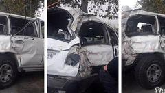 تصادف شدید رئیس سازمان تأمین اجتماعی کشور در شمال /ماشین آنها مچاله شد+عکس