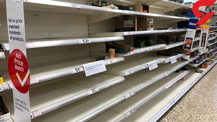 انگلیس از هجوم مردم به سوپرمارکت ها عصبانی شد