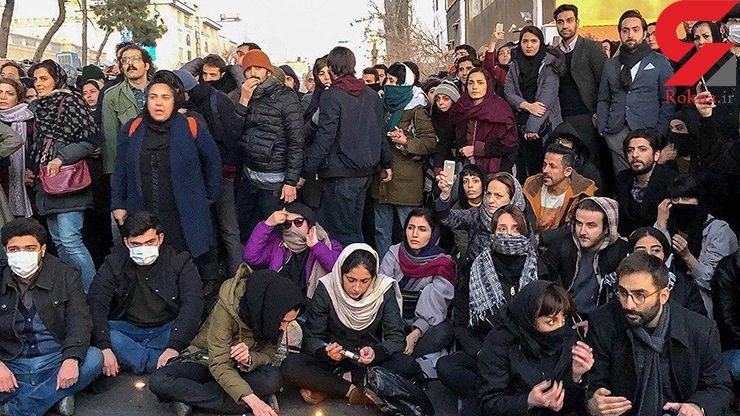 شعارهای تند و پاره کردن عکس حاج قاسم / در تجمع عصر امروز دانشجویان رخ داد + عکس و فیلم