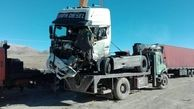 تصادف مرگبار کامیون و تریلی در تهران / راننده در دم جان باخت