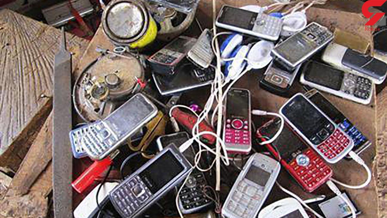 کشف 50 دستگاه گوشی تلفن همراه سرقتی در کرمانشاه