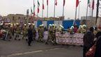 حضور آتش نشانان در مراسم راهپیمایی 22 بهمن+فیلم