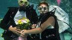 جشن عروسی زوج خبرنگار زیر دریا + عکس