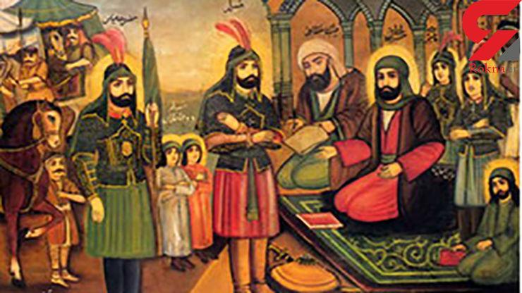 انتخاب رنگهای سبز و قرمز در نقاشی لباس امامان حسن و حسین(ع) چه رازی دارد!؟