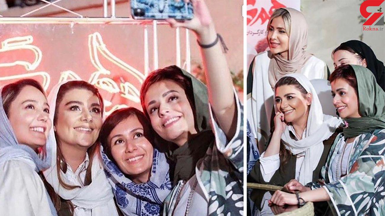 سلفی هنگامه قاضیانی با دختران هم گناه + عکس