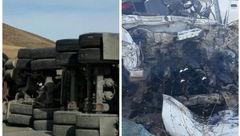 ۵ کشته و ۲ مجروح در سانحه رانندگی محور خمین- الیگودرز