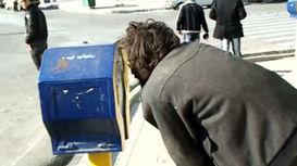 تلاش برای سرقت از صندوق صدقات در خیابان فردوسی + فیلم