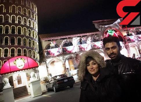 روناک یونسی و همسرش در یک رستوران کانادایی +عکس