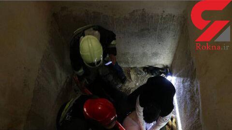 سقوط جوان ۲۵ ساله در چاه ۲۰ متری