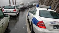 ترافیک نیمه سنگین در محورهای تهران-لواسان و کرج-قزوین/بارش برف در محور کرج-چالوس