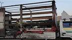 کامیون در بزرگراه یاسینی آتش گرفت + عکس ها