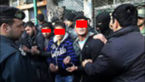 دستبند پلیس بر دستان 11 متخلف و مزاحم خیابانی