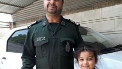 تصویر شهید حادثه تروریستی اهواز در کنار دختر خردسالش