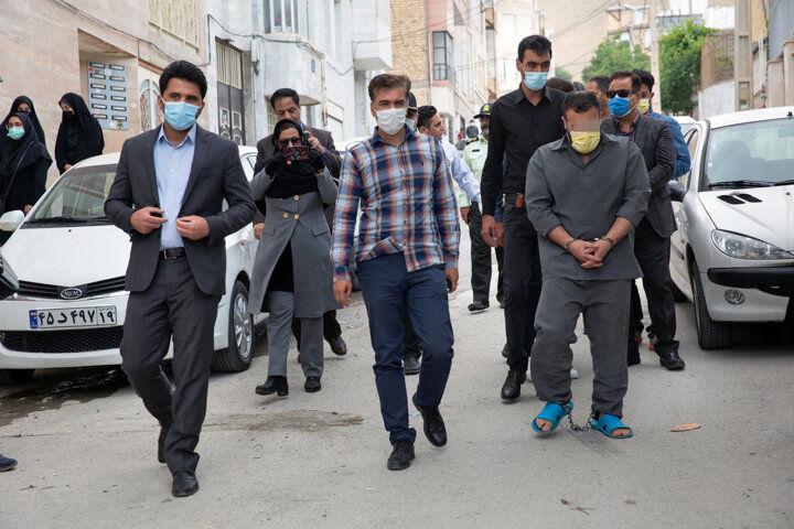 صحنه قتل شهرک پردیس کرمانشاه بازسازی شد