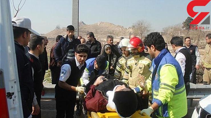تصادف زنجیرهای در کرمان ۱۳ مصدوم برجای گذاشت