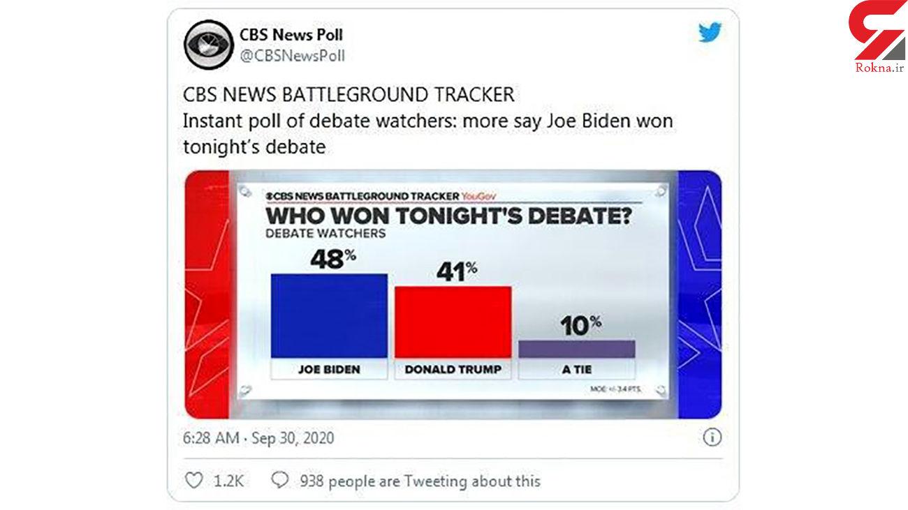 سیبیاس: بایدن پیروز اولین مناظره بود