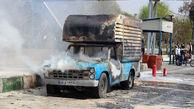 وحشتناکترین عکس ها از آتش گرفتن یک خودرو در تهران + جزییات