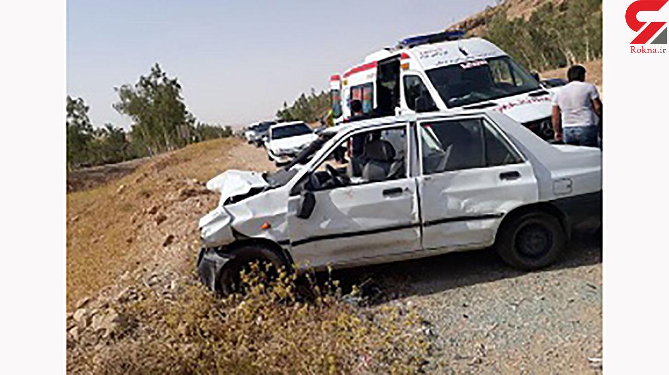 تصادف مرگبار پژو 405 با یک دستگاه سواری پراید در زاهدان