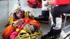 عکس / نجات کوهنورد گرفتار درعلم کوه +عکس