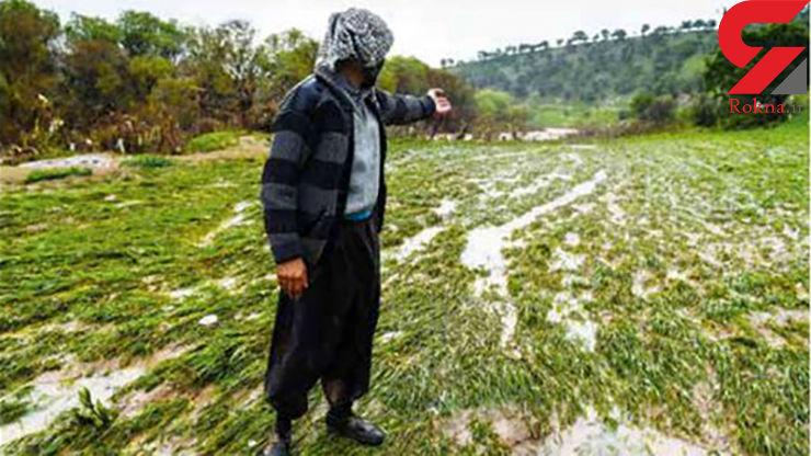 پای درد دل کشاورز لرستانی که سیل زندگی اش را برد / اشکهایی به درشتی انجیر + عکس