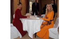 لباس نارنجی دختر ترامپ سوژه رسانه ها شد+عکس