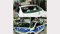 حمله وحشیانه یک مسافر به خودروی پلیس در خوی + عکس
