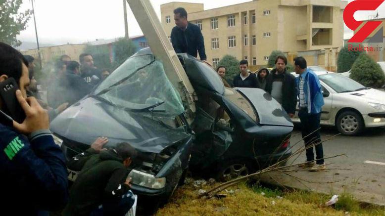 عکس های حیرت انگیز از نصف شدن مرگبار ماشین محکم ایرانی در ایلام! + جزییات