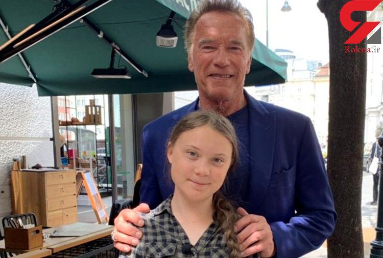آرنولد به دختر معروف چه چیزی هدیه داد؟