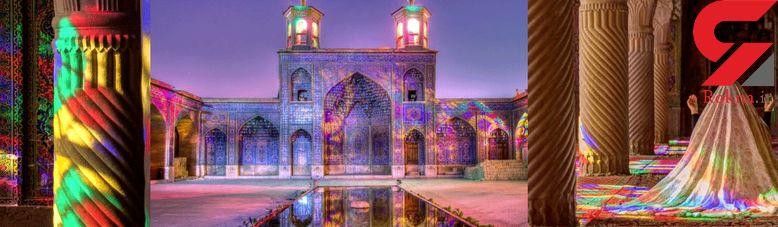 مسجدی جادویی به لطافت نور و رنگ +عکس