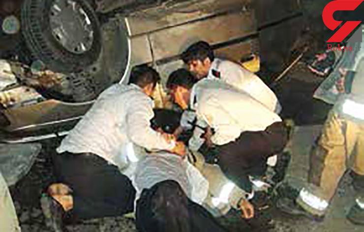 دستگیری راننده فراری پس از تصادف با آتشنشان