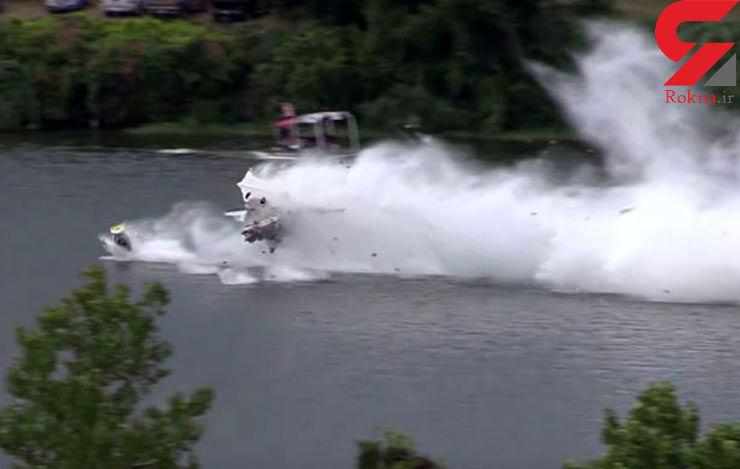 فیلم لحظه انفجار قایق مسابقه با سرعت 550 کیلومتر + تصاویر