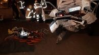 یک کشته در تصادف آزادراه تهران- قم + عکس