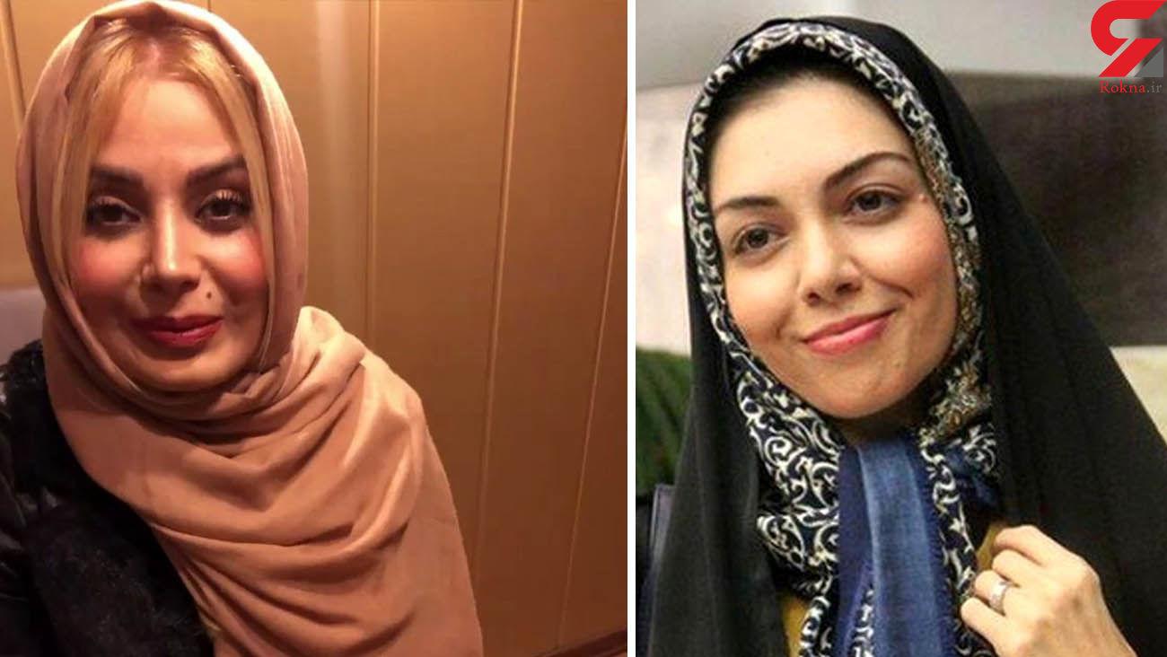 کنایه صبا راد به کشف حجاب آزاده نامداری در خارج / در ترکیه هم باد روسری را می برد + عکس