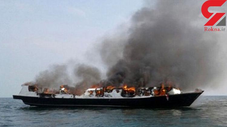 7 کشته در آتش سوزی یک کشتی مسافربری اندونزی
