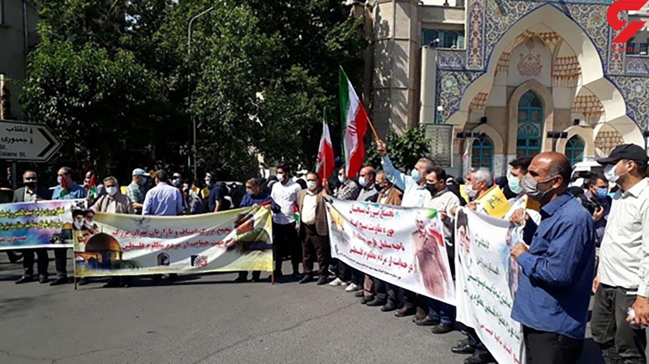 تجمع و جشن مردم تهران در حمایت از پیروزی مقاومت فلسطین