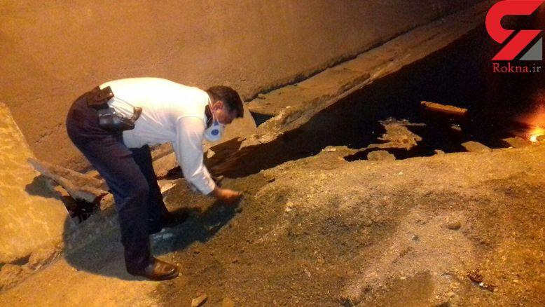 سرازیر شدن نفت در تونل آزادراه خرم آباد + عکس