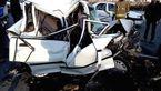 6 کشته و 23 مجروح در برخورد پراید و کامیون در اندیکای خوزستان +عکس