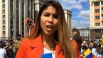 آزار خانم خبرنگار هنگام گزارش زنده در جام جهانی روسیه + تصویر