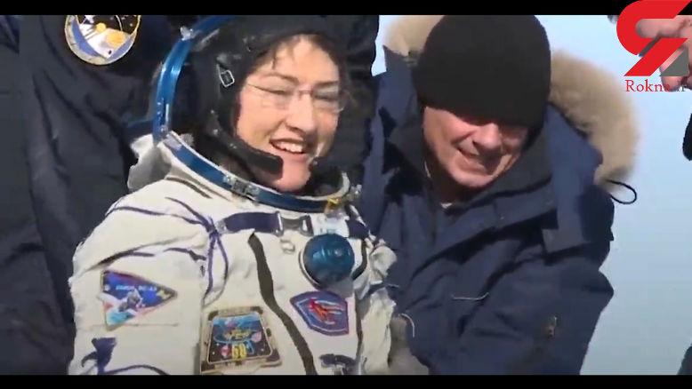 رکورد ماندن یک زن در فضا شکسته شد+فیلم