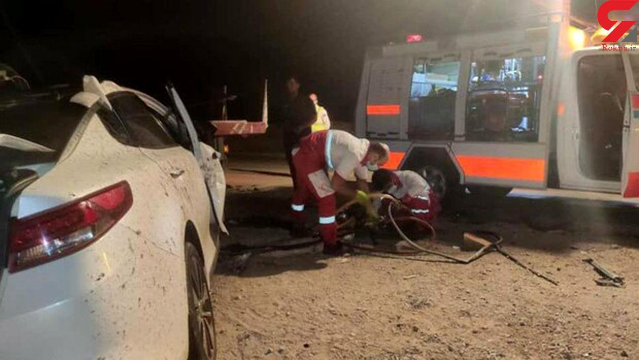 مرگ دلخراش در خودروی لاکچری / در سمنان رخ داد + عکس