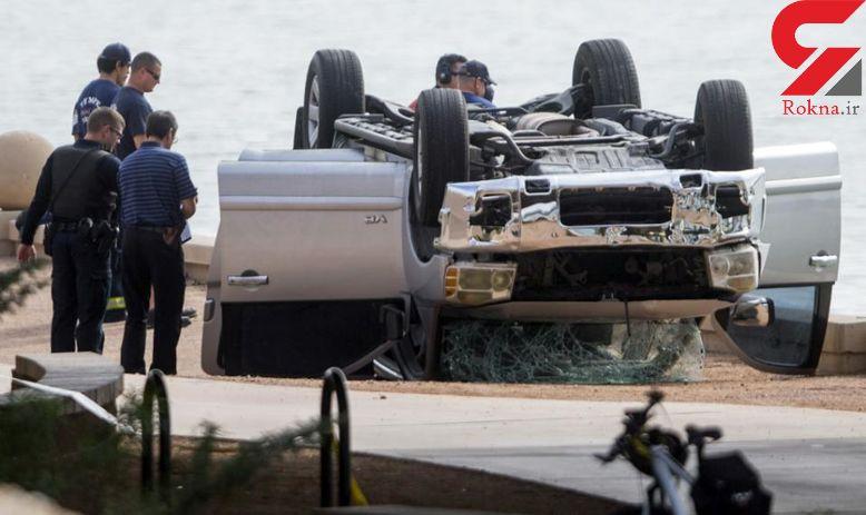 مرگ 5 عضو خانواده امریکایی در سقوط خودرو به دریاچه