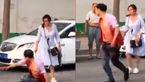 فیلم لحظه حمله به شوهر در خیابان / او را دست در دست یک زن دیدم!+ تصاویر