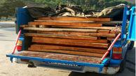 توقیف خودرو حامل چوب قاچاق در ایلام