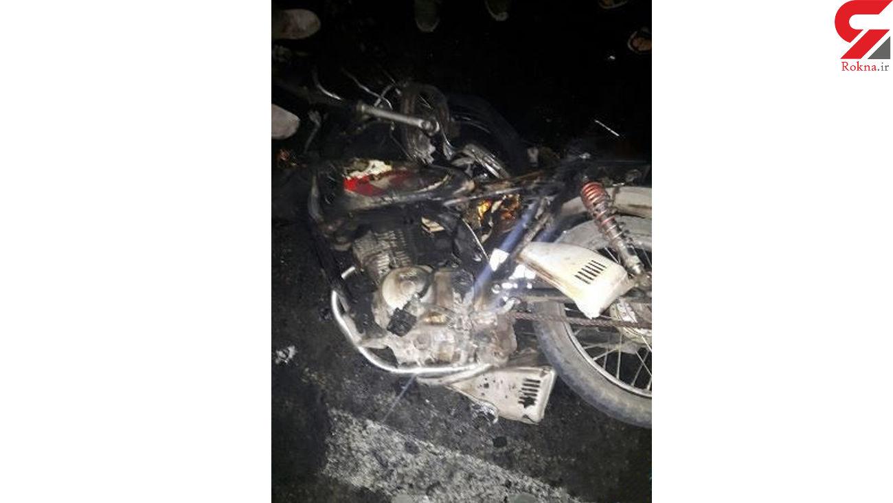 تصادف دو دستگاه موتورسیکلت در تونل نیایش