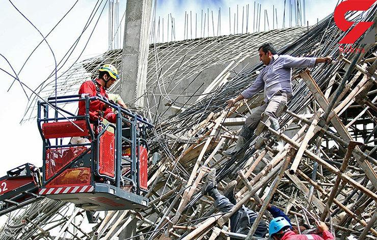 نجات ۶ نفر از ریزش ساختمان ۳ طبقه در جنت آباد تهران