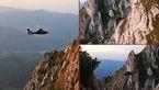فیلم لحظه نجات یک زن تنها از میان شکاف یخی صخره ها ی بلند+عکس
