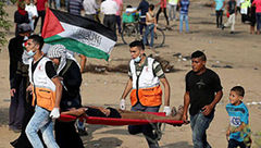 مجروح شدن ۴۶ فلسطینی در راهپیمایی بازگشت در غزه
