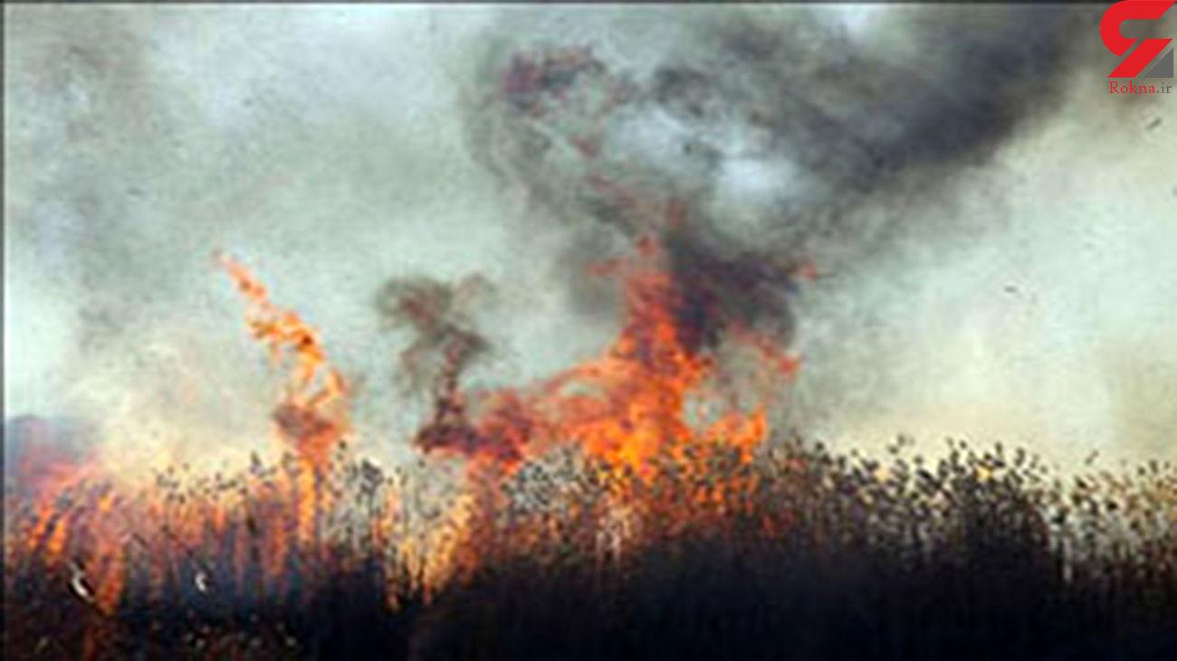 آتش سوزی 20 تن کاه گندم عدل شده در گنبدکاووس